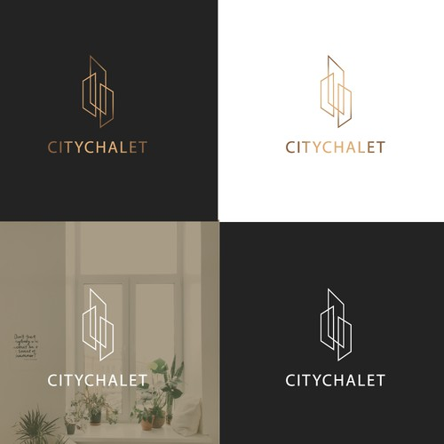 abstract logo for citychalet