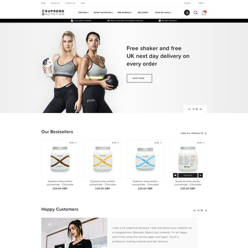 Ecommerce Sport Nutritions