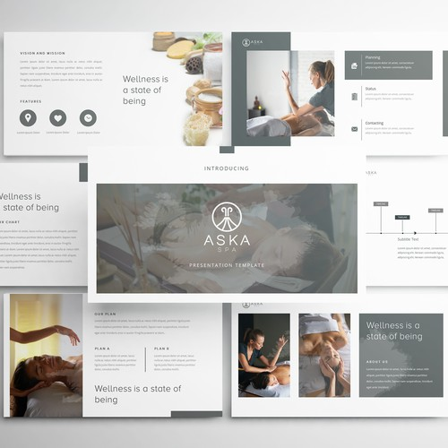 PowerPoint Template for Iceland Spa