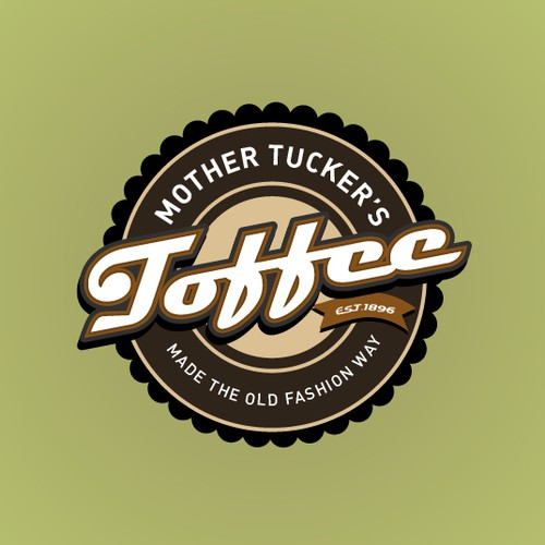 Create a logo equal to the unsurpassed quality of Mother Tucker's Toffee.