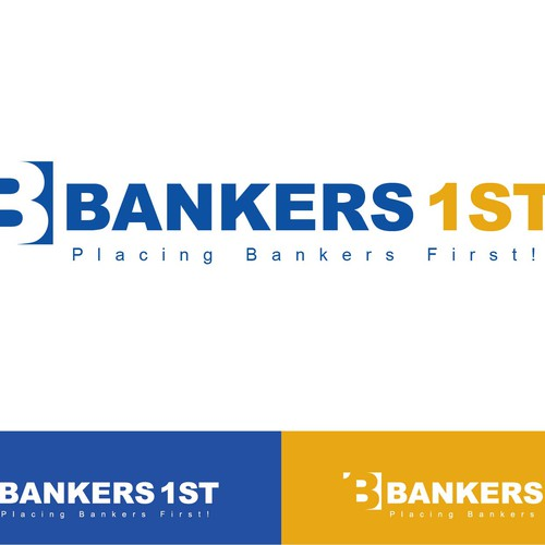 Create a visually appealing logo for upstart bankers recruiting company.