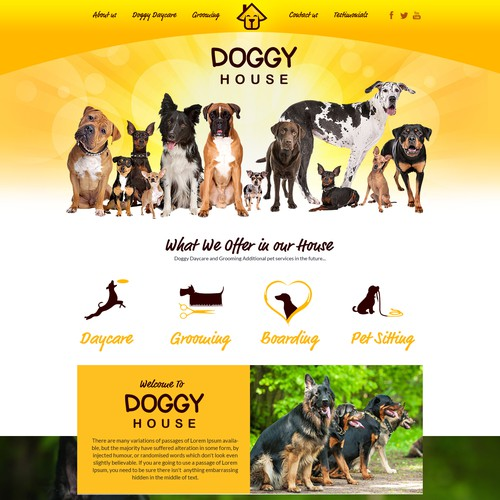 home page for doggyhouse.ca