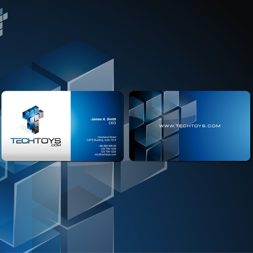 TechToys.com Logo & Business Card
