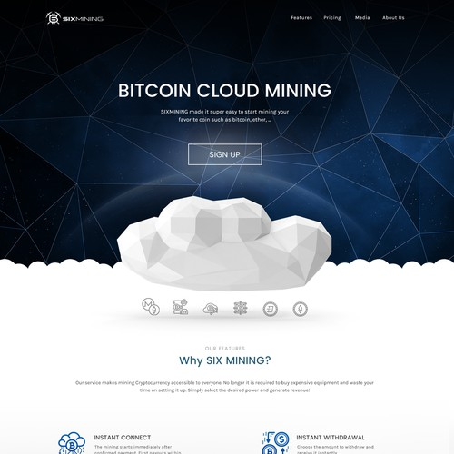 One Page site for Bitcoin mining