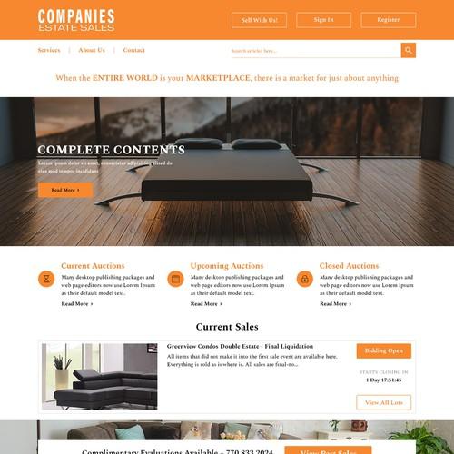 Companies Estate Sales Landing Page Design