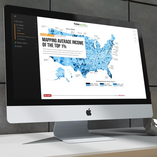 Cool and sleek design for a finance website