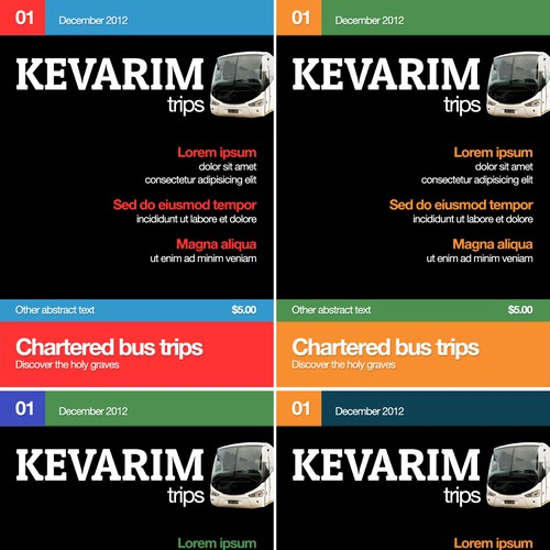 New magazine cover wanted for Kevarim trips