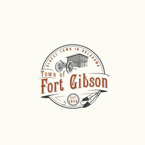 Vintage town logo