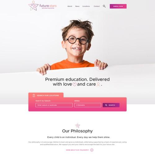 New Modern Webdesign for Childcare Center
