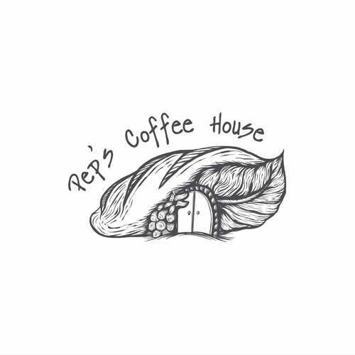logo for pep's coffee house