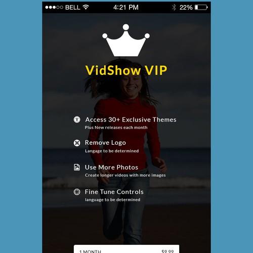 App Design for VidShow VIP