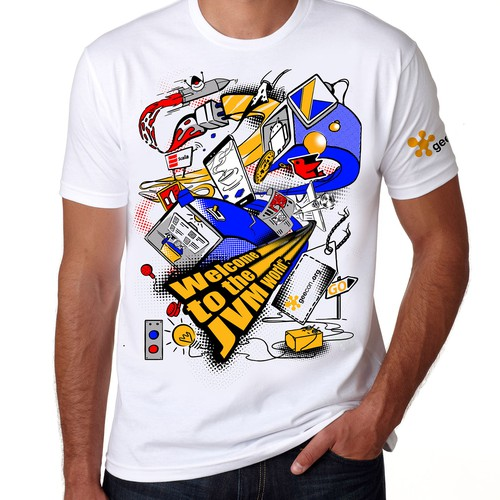 Illustration on tshirt- coding space