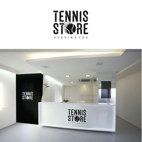 Design a modern logo for new sports goods retailer 'Tennis Store'