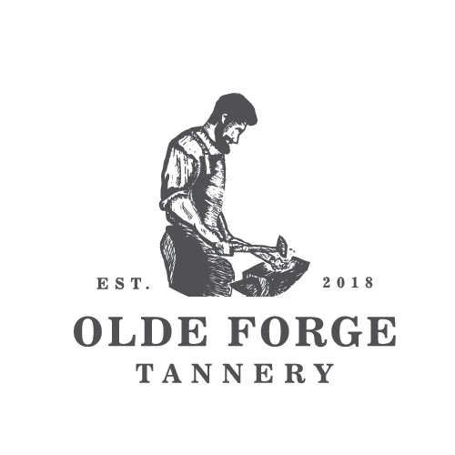 vintage logo for Olde Forge Tannery