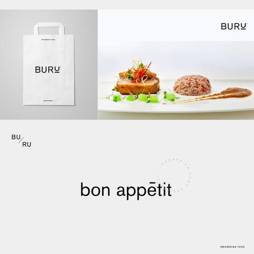 Buru, Logo and Brand Identity Design Concept for Modern Fusion Restaurant