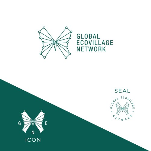 Ecovillage Network logo to connect sustainable communities around the world!