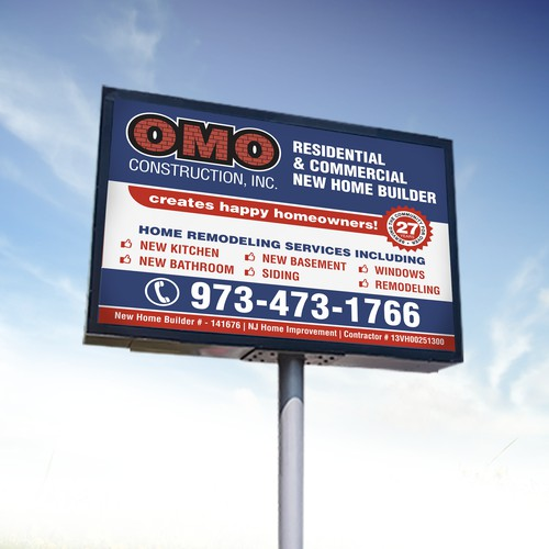 OMO Construction Signage