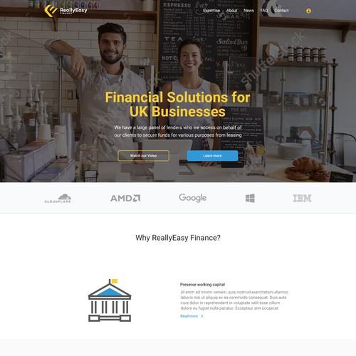 Modern Financial Website
