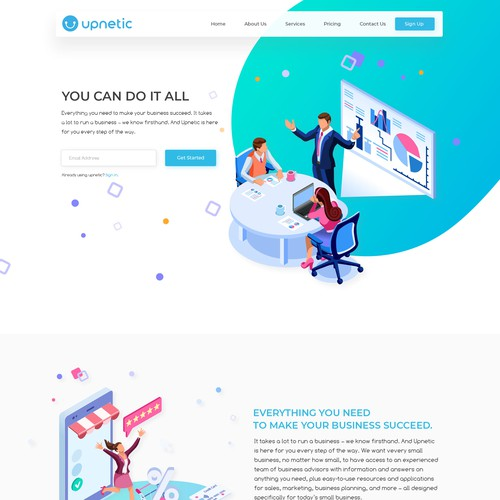 Upnetic Website Design