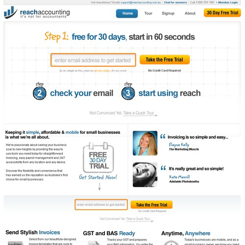 Homepage for reachaccounting