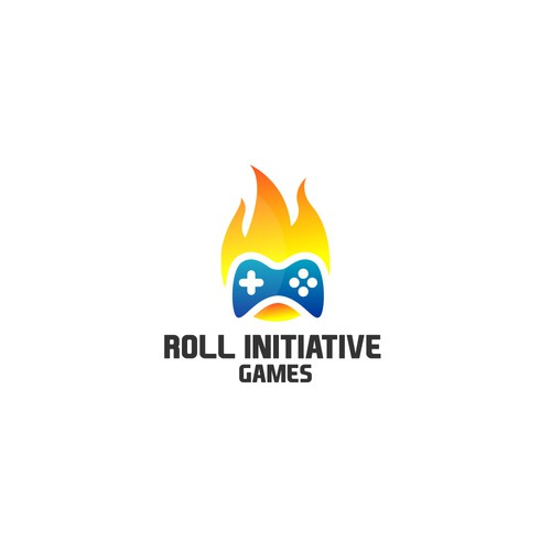 Flaming game logo
