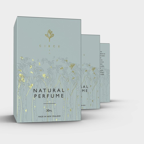 Product packaging for natural perfume