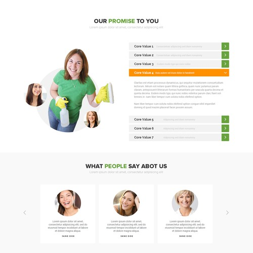 Maid Service Web Design