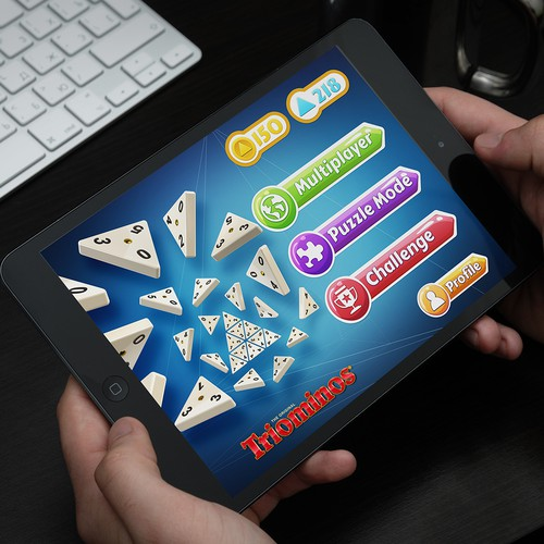 **GUARANTEED** Create UI for Triangular Dominos iPad Game