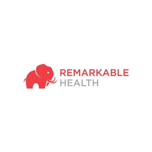 Logo featuring an abstract elephant