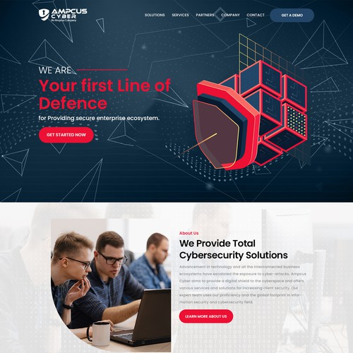 landing page for our Virtual CISO Offering services