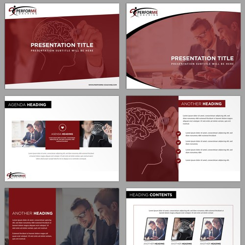 Powerpoint presentation design for Executive Coaching company