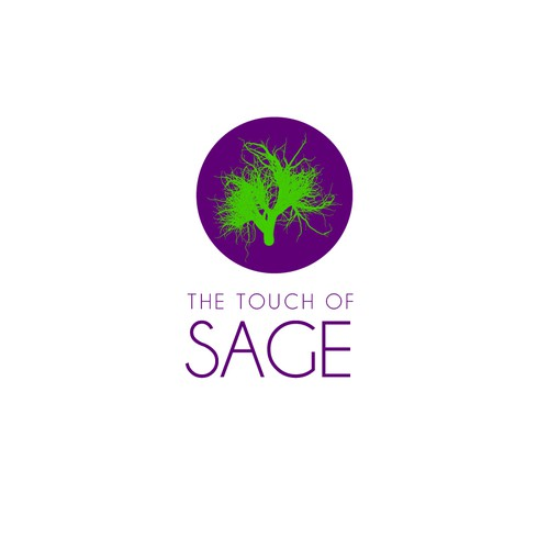 Create an engaging/intriguing/interesting nature inspired logo for The Touch of Sage