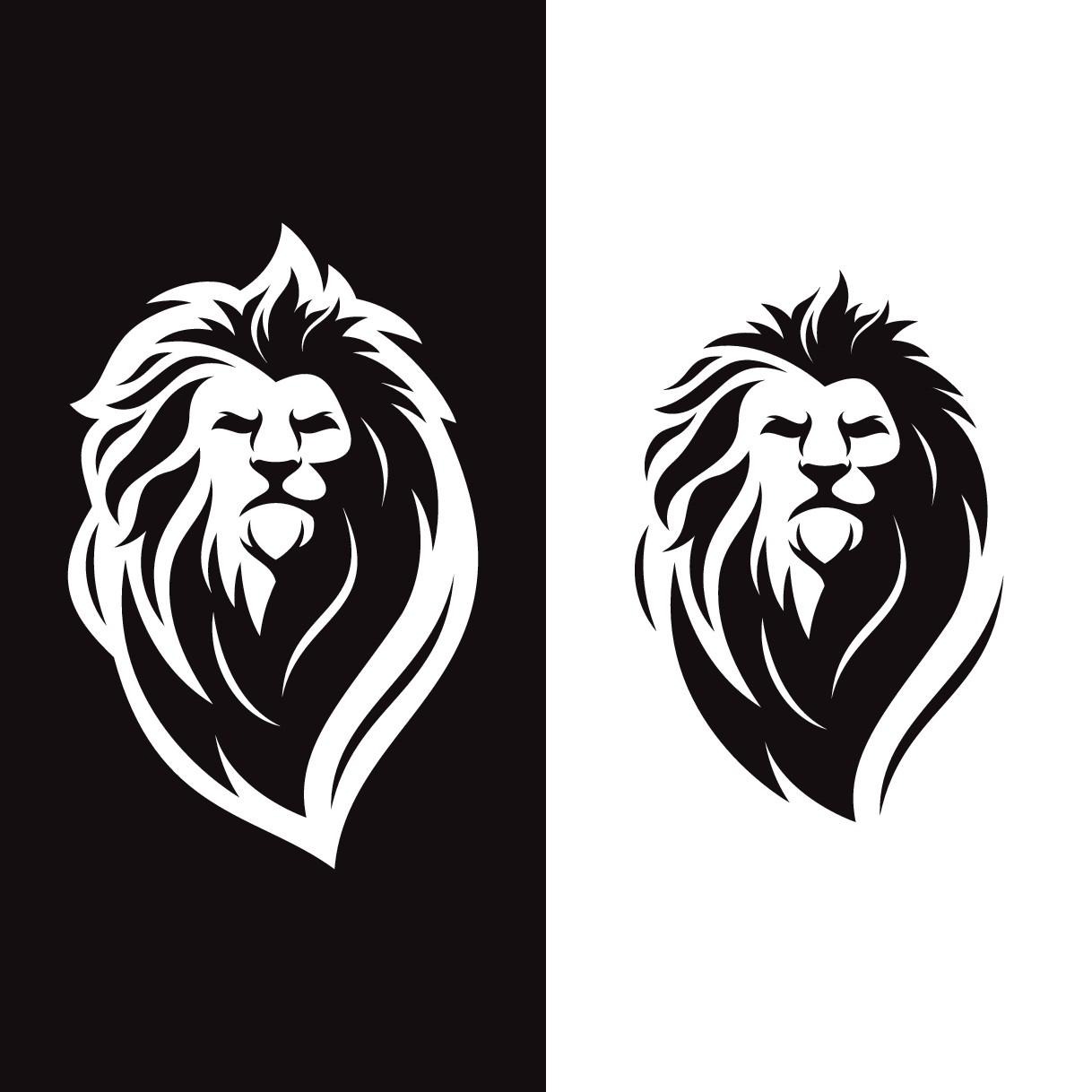 thinking lion logo design