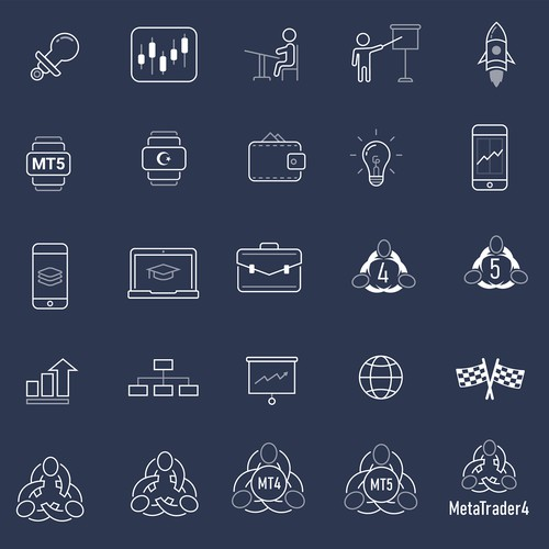 Finance/Forex site icons