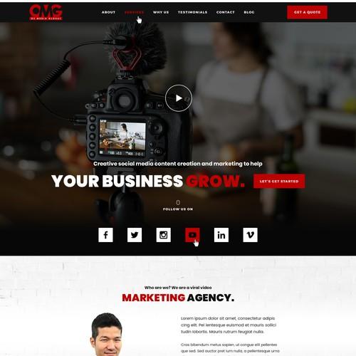 Website design for a viral video marketing agency