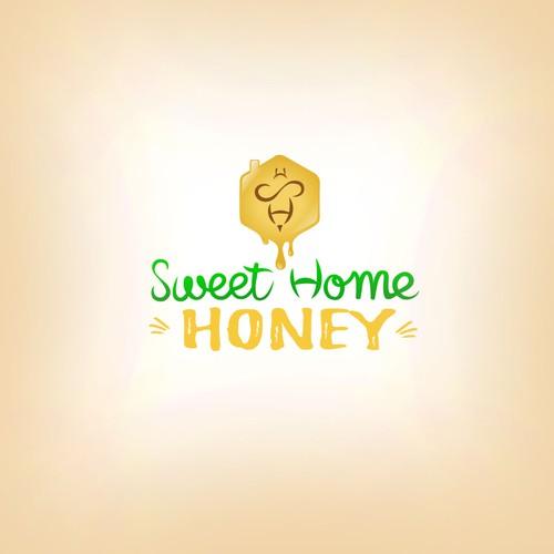 Logo designed to honey trade.