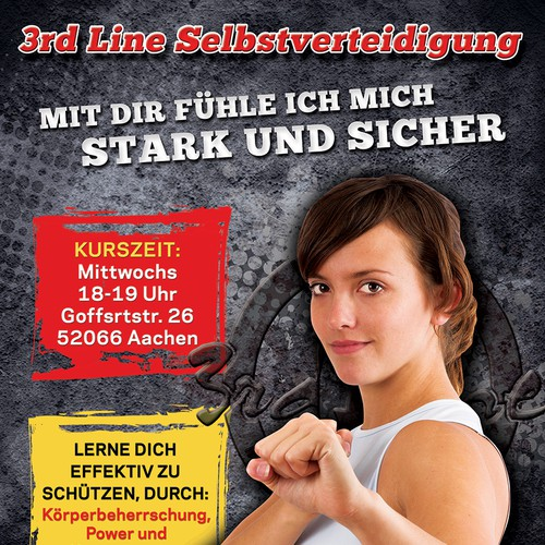 Woman self-defence course flyer