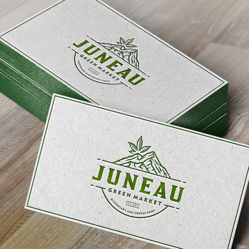 Logo proposal and business card example for Juneau Green Market.