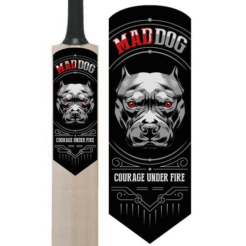 Sticker design for Cricket bat