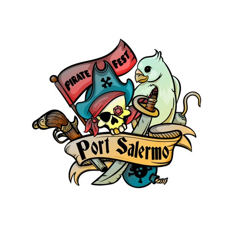 Logo for the pirate festival