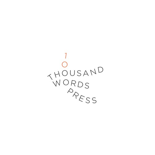 Whimsically Clean:  Thousand Words Press Needs a Logo and Biz Card