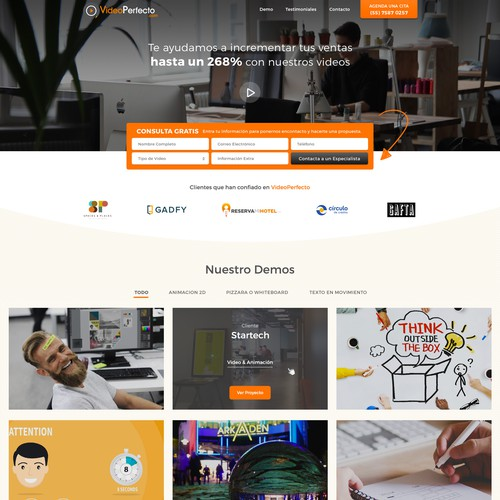Web Design for VideoPerfecto