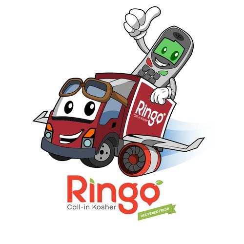 Phone and truck mascot