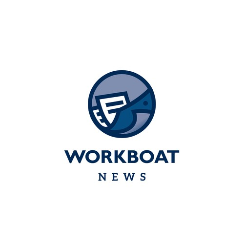 Logo for a news website for a workboat industry