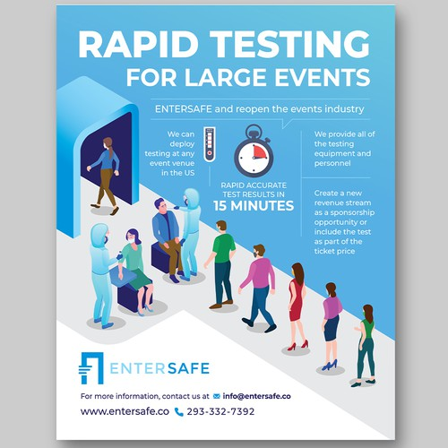 Flyer for Covid-19 Rapid test service