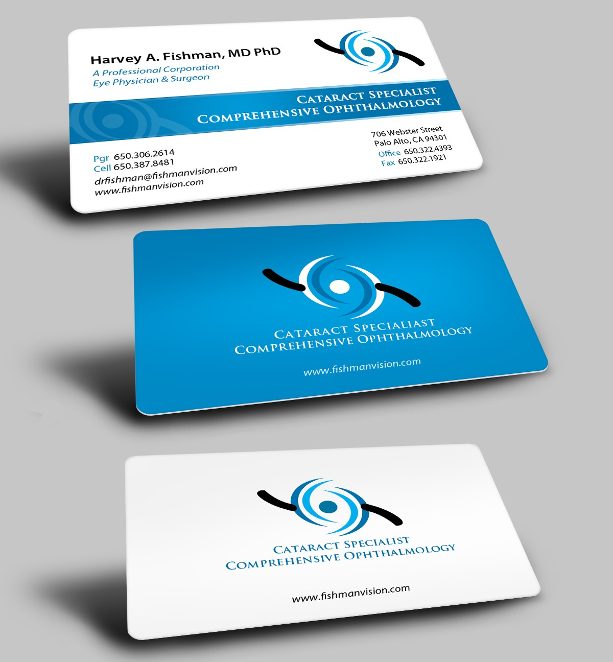Help Harvey A. Fishman, MD, A Professional Corporation with new business card