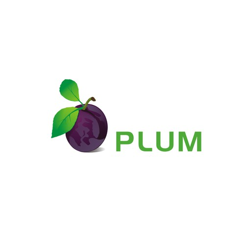 Create a bold and elegant logo for PLUM.