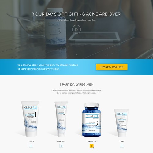 Clear All Rejuvenate Website Redesign
