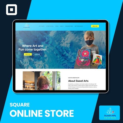Sweet Arts LLC Square online