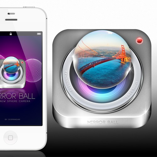3D Ball IOS Icon (dermandar)